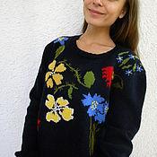 """Одежда ручной работы. Ярмарка Мастеров - ручная работа Джемпер с вышивкой """"Полевые цветы"""".. Handmade."""
