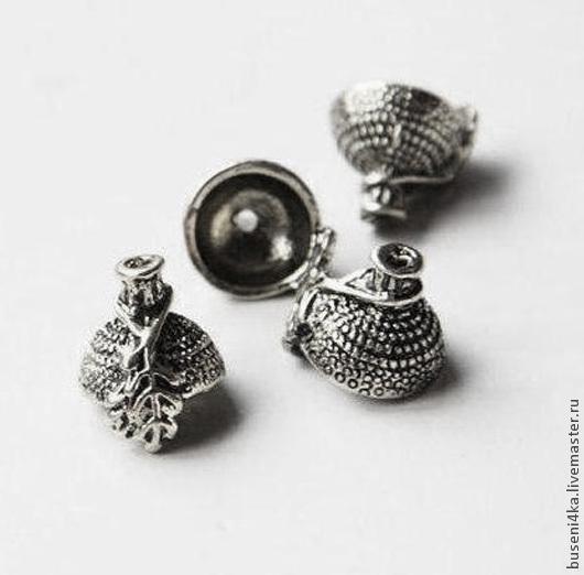 Для украшений ручной работы. Ярмарка Мастеров - ручная работа. Купить Шапочка Желудь №3, античное серебро (1шт). Handmade.