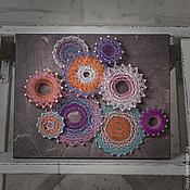 """Картины и панно ручной работы. Ярмарка Мастеров - ручная работа """"Абстракция"""" в стиле стринг арт. Handmade."""
