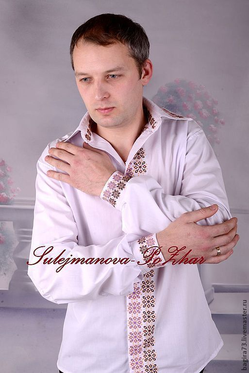 """Для мужчин, ручной работы. Ярмарка Мастеров - ручная работа. Купить Мужская рубашка от """"Букета невесты"""". Handmade. Орнамент"""