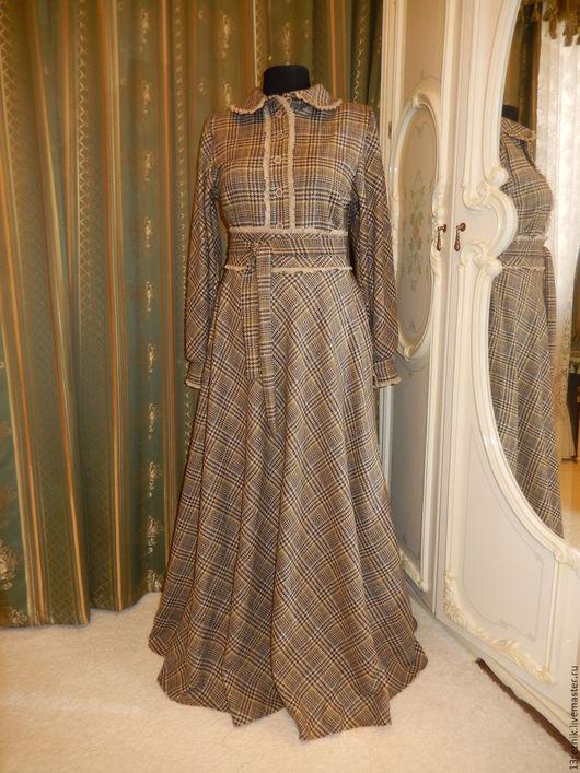 Платья ручной работы. Ярмарка Мастеров - ручная работа. Купить Платье из шерсти. Handmade. Хаки, платье в пол, платье на заказ