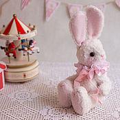 """Куклы и игрушки ручной работы. Ярмарка Мастеров - ручная работа Тедди Зайчик из серии """"Розовое настроение"""". Handmade."""