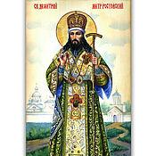 Картины и панно handmade. Livemaster - original item The icon of St. Dmitry of Rostov. Handmade.