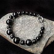 Украшения handmade. Livemaster - original item Unisex bracelet with rainbow obsidian. Handmade.