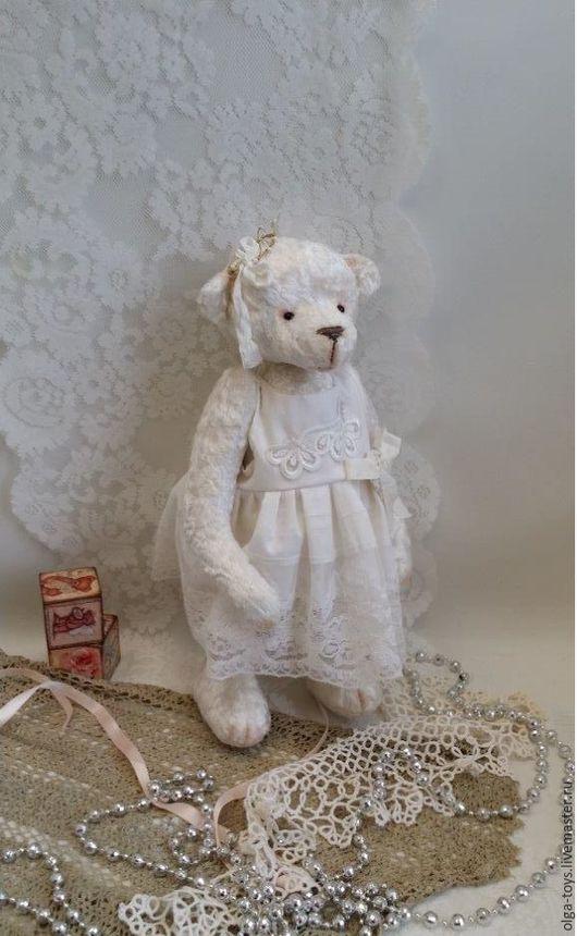 Мишки Тедди ручной работы. Ярмарка Мастеров - ручная работа. Купить Тедди мишка Маленькая Принцесса. Handmade. Белый