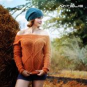 Одежда ручной работы. Ярмарка Мастеров - ручная работа Джемпер VITALIA (orange). Handmade.