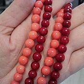 Материалы для творчества handmade. Livemaster - original item Coral beads beads 8mm. Handmade.