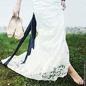 Свадебный салон ручной работы. Ярмарка Мастеров - ручная работа Бело синяя свадьба. Handmade.