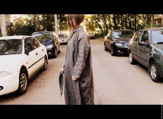 Платья ручной работы. Ярмарка Мастеров - ручная работа. Купить темно-серый балахон. Handmade. Серый, Свободный стиль
