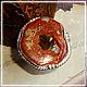 """Кольца ручной работы. Ярмарка Мастеров - ручная работа. Купить кольцо в серебре 925 пр. """"Охра"""". Handmade. Рыжий"""