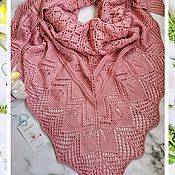 Аксессуары handmade. Livemaster - original item Shawl/Bactus Nymph /powder. Handmade.