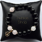 Украшения handmade. Livemaster - original item Bracelet agate and quartz Clover. Handmade.