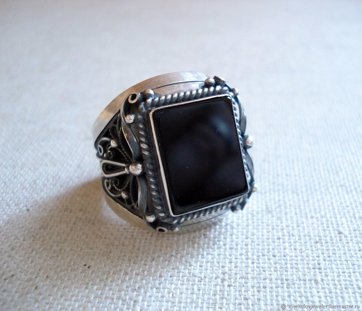 Мужское кольцо с камнем, Кольца, Санкт-Петербург,  Фото №1