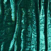 Ткани ручной работы. Ярмарка Мастеров - ручная работа Бархат шелковый Бирюзово-зеленый. Handmade.