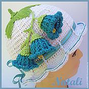 Работы для детей, ручной работы. Ярмарка Мастеров - ручная работа Летние панамки , шапочки для девочек. Handmade.