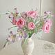 Интерьерные композиции ручной работы. Ярмарка Мастеров - ручная работа. Купить Букет с пионовидными розами из шелка. Handmade. Розовый