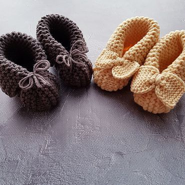 Footwear handmade. Livemaster - original item Booties for kids. Handmade.