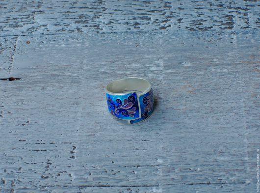 """Кольца ручной работы. Ярмарка Мастеров - ручная работа. Купить Кольцо из серии """"Цвети для русалки"""". Handmade. Подарок, бирюзовый"""