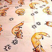 Для дома и интерьера ручной работы. Ярмарка Мастеров - ручная работа Скатерть с паттерном лисы. Handmade.