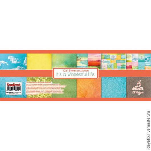 В набор входит 6 листов двусторонней бумаги с дизайнами коллекции и карточками.  Размер: 30,5х30,5 см. Плотность: 190 гр/м Коллекция: Жизнь Прекрасна. It`s a Wonderful Life. Бренд: ScrapBerry`s