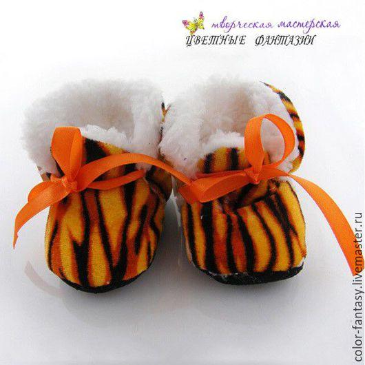 """Куклы и игрушки ручной работы. Ярмарка Мастеров - ручная работа. Купить Сапожки-пенетки для куклы """"Меховые"""". Handmade. Обувь"""