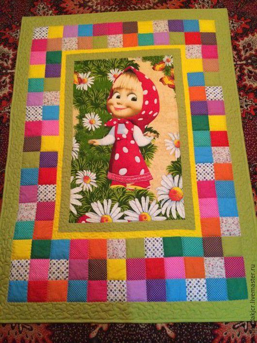 Пледы и одеяла ручной работы. Ярмарка Мастеров - ручная работа. Купить детское одеяло Маша. Handmade. Комбинированный, покрывало детское