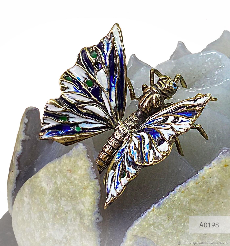 Подарок на 8 марта Бабочка на цветке Лотуса из агата, Статуэтки, Москва,  Фото №1