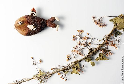 Броши ручной работы. Ярмарка Мастеров - ручная работа. Купить Брошь Рыба-сапиенс. Handmade. Брошь, рыба