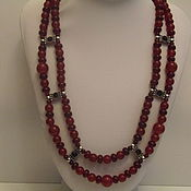 Украшения handmade. Livemaster - original item Necklace of carnelian and agate
