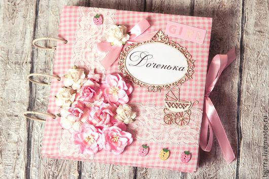 """Фотоальбомы ручной работы. Ярмарка Мастеров - ручная работа. Купить Детский фотоальбом """"Доченька"""". Handmade. Розовый, альбом для фото, подарок"""