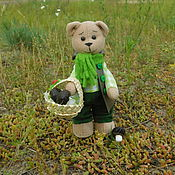 Куклы и игрушки ручной работы. Ярмарка Мастеров - ручная работа Медведик-грибник. Handmade.