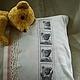 Текстиль, ковры ручной работы. Ярмарка Мастеров - ручная работа. Купить Мишкина фотография. Подушка с вышивкой. Handmade. Чёрно-белый