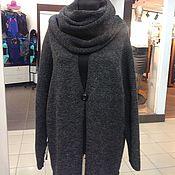 Одежда ручной работы. Ярмарка Мастеров - ручная работа кардиган бохо черно серый меланж. Handmade.