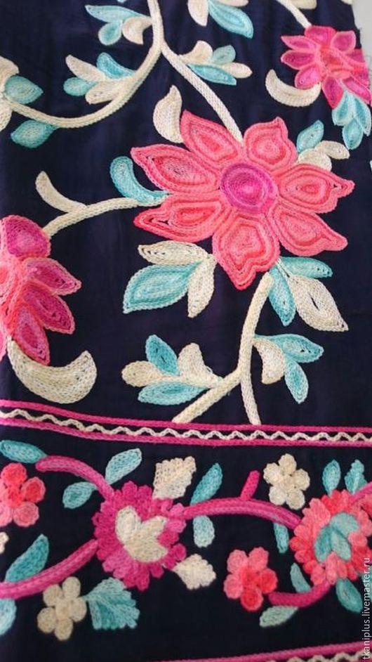 """Шитье ручной работы. Ярмарка Мастеров - ручная работа. Купить Штапель с вышивкой. """"Новый"""". 3 цвета. Италия.. Handmade. Комбинированный"""