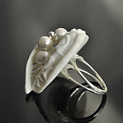 Украшения handmade. Livemaster - original item Porcelain ring from the series
