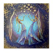 Картины и панно handmade. Livemaster - original item Picture of witches in