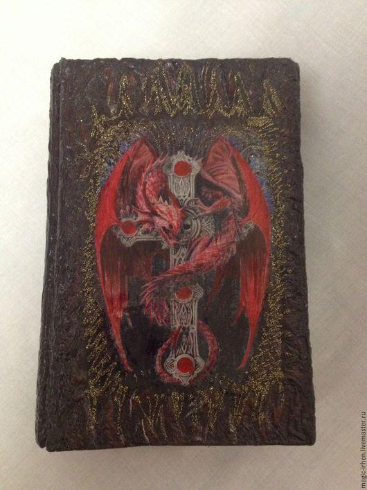 Эзотерические аксессуары ручной работы. Ярмарка Мастеров - ручная работа. Купить Шкатулка для Таро Красный дракон. Handmade. Разноцветный