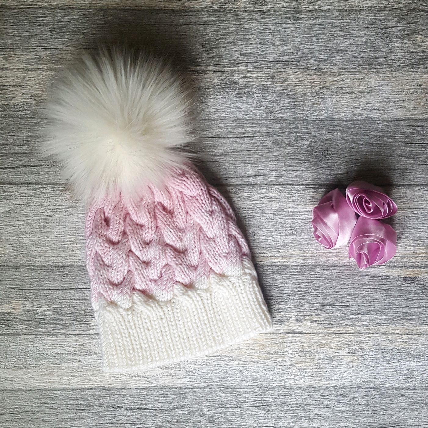 вязаная шапка с градиентом купить в интернет магазине на ярмарке