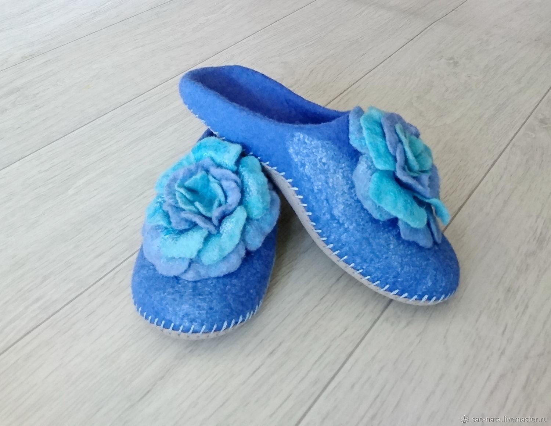 Обувь ручной работы. Ярмарка Мастеров - ручная работа. Купить Тапки валяные женские. Handmade. Тапочки из шерсти