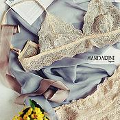 Одежда handmade. Livemaster - original item Underwear handmade lace beige. Handmade.
