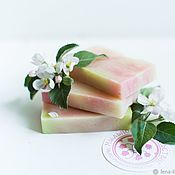 Косметика ручной работы handmade. Livemaster - original item Handmade soap, natural Apple blossoms with zero pink. Handmade.
