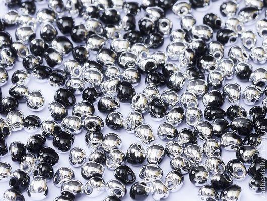 Для украшений ручной работы. Ярмарка Мастеров - ручная работа. Купить Бисер Drops 3.4 мм 55033 Black Labrador. Handmade.