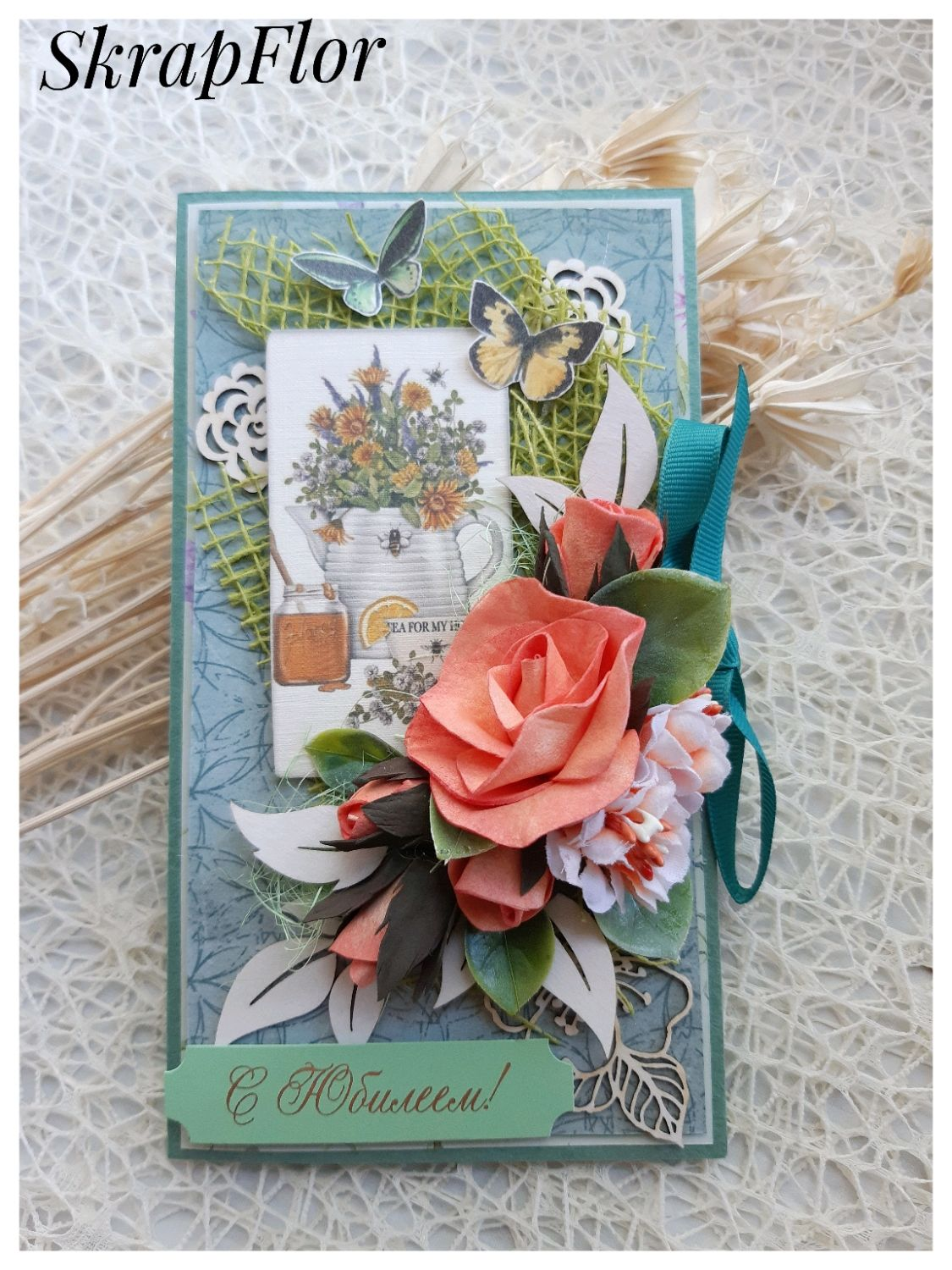 The handmade card. Greeting Card Happy Anniversary. Greeting card, Cards, St. Petersburg,  Фото №1