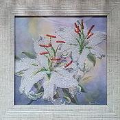 Картины и панно handmade. Livemaster - original item Bead painting