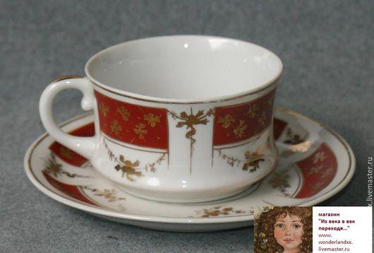 Винтажная посуда. Ярмарка Мастеров - ручная работа. Купить RR. Чайная пара, Барановка, 40е. Handmade. Комбинированный, фарфор