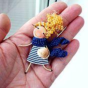 handmade. Livemaster - original item brooch girl