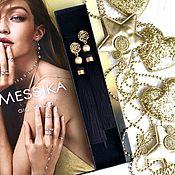 Украшения handmade. Livemaster - original item Earring of the brush Kleopatra black gold silk pearl Majorca. Handmade.