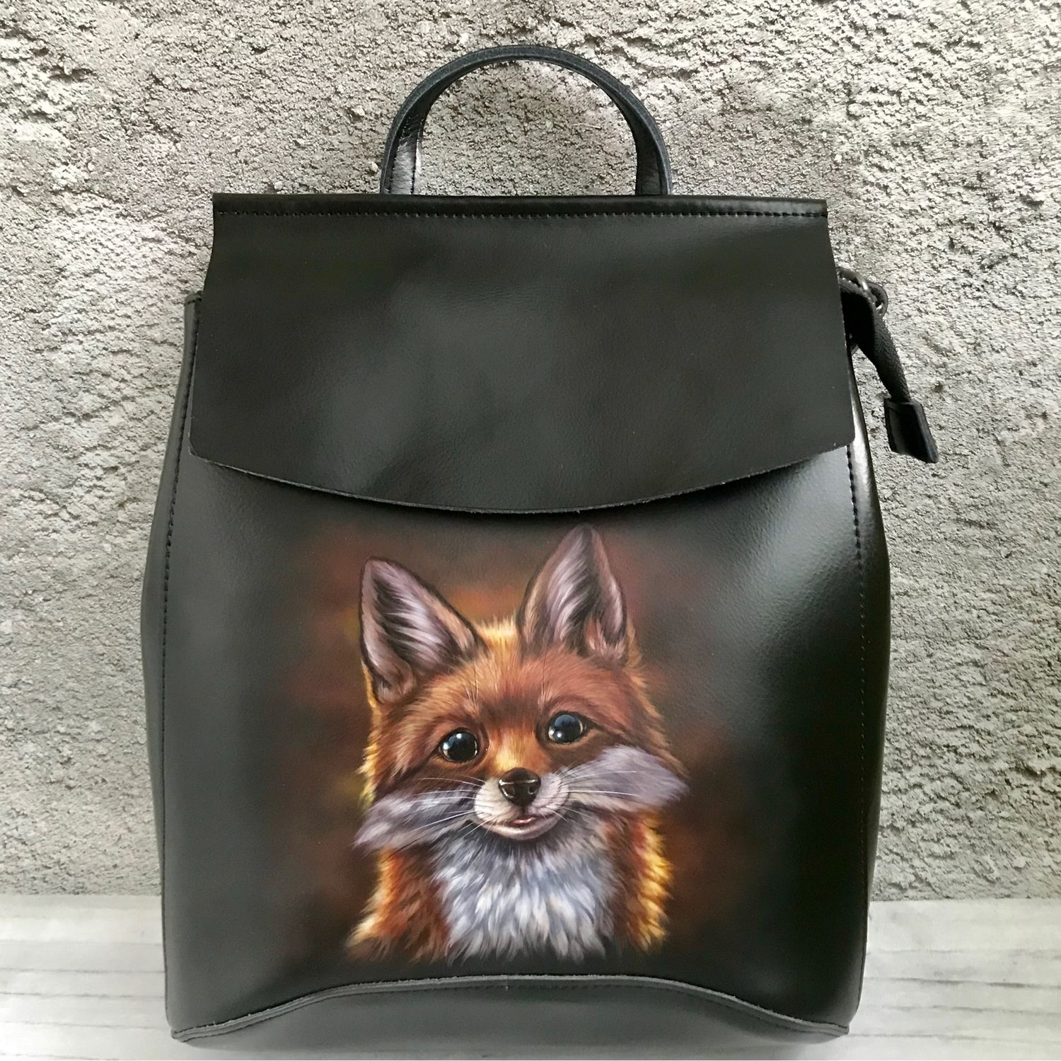 Backpack with a painting ' Fox cub», Backpacks, Moscow,  Фото №1