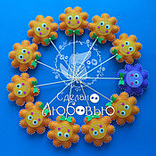 Куклы и игрушки ручной работы. Ярмарка Мастеров - ручная работа Цветы из фетра на шпажках. Handmade.