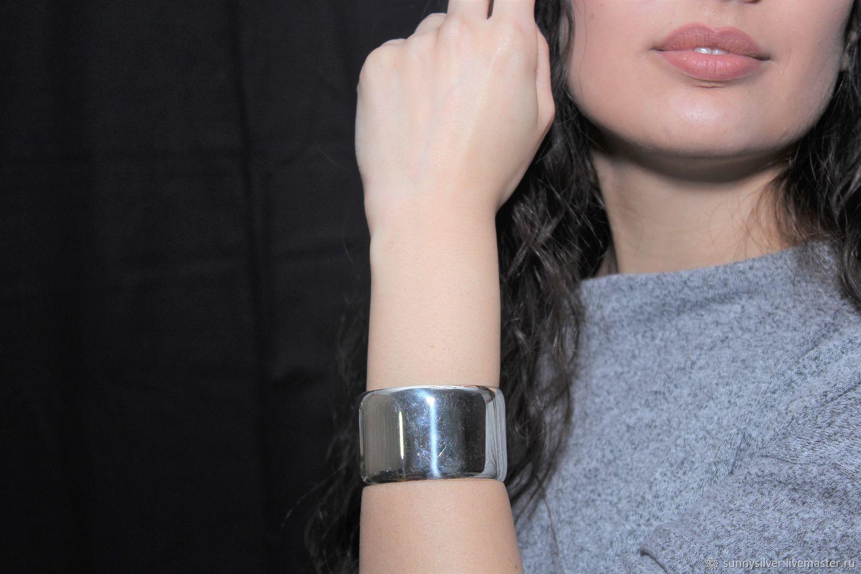 Minima Series cuff bracelet in polished 925 ASH0004 silver, Cuff bracelet, Yerevan,  Фото №1